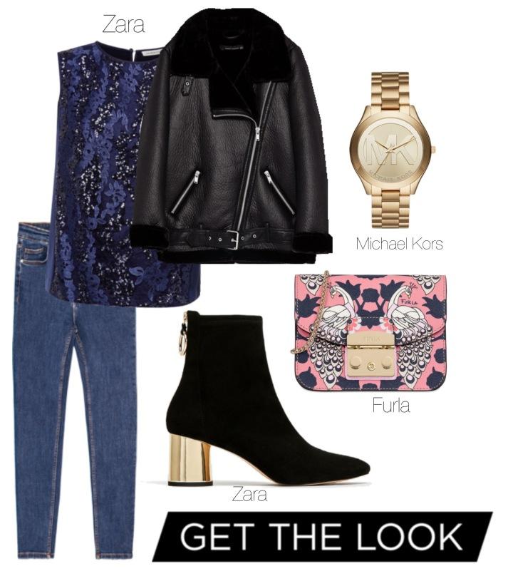 Get the Look #blue&black